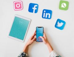 Präsenz in sozialen Medien
